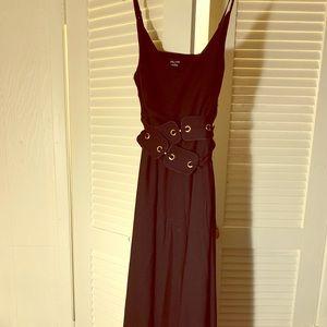 City Chic size 18 (M) Black Maxi Dress w/belt